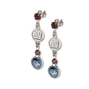 Officially Licensed New York Giants Earrings NFL Logo w/ Team Colors