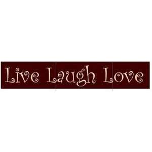 Wall Decor Live Laugh Love Wood Sign 1