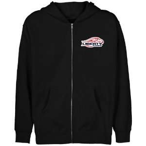 NCAA Liberty Flames Youth Black Logo Applique Full Zip