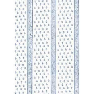 Katsura Stripe Delft by F Schumacher Wallpaper