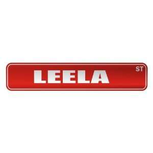 LEELA ST  STREET SIGN NAME