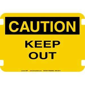20 x 14 Standard Caution Signs  Keep Out  Industrial