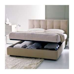 Gemma Bed Size King, Feet White Lacquered Metal