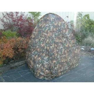 NEW POP UP HUNTING BLIND   TWO MAN REAL TREE CAMO w BAG