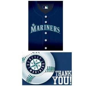 Seattle Mariners Baseball   Invite & Thank You Combo