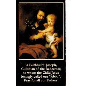 Fathers Day What Makes a Dad Holy Prayer Card Wallet Size