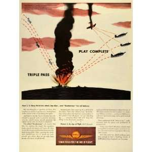 1944 Ad Royal Duch Shell Gas Oil Gasoline Bale Comba