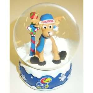 Kansas Jayhawks NCAA Holiday Snow Globe
