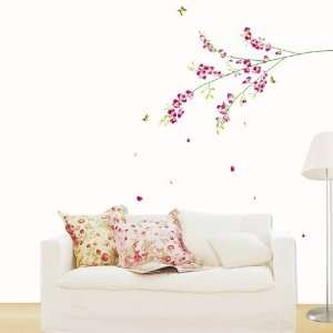 House Orchid Tree Branch removable Vinyl Mural Art Wall Sticker Decal