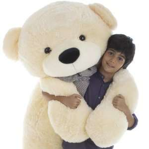 Cuddles Super Soft Huggable Jumbo Cream Teddy Bear 65in Toys & Games