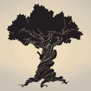 Wall Art Decal Sticker Old Wise Tree 72x66 6ft Tall