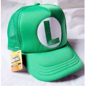 Mario Bro Trucker Hat   Green Luigi Toys & Games