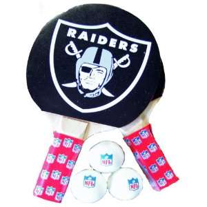 NFL Oakland Raiders Table Tennis Racket And Ball Set