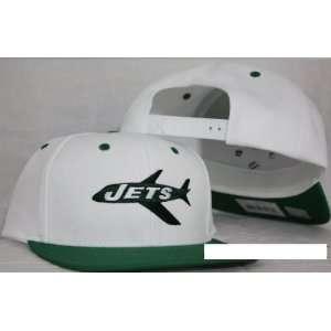 New York Jets White / Green Snapback Adjustable Plastic