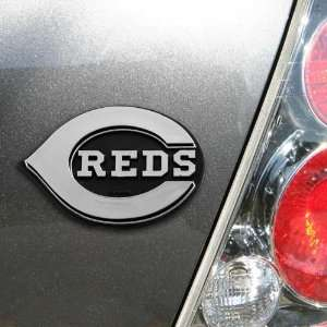 Cincinnati Reds Silver Car Emblem