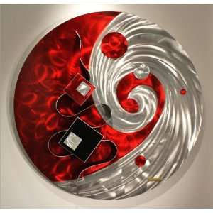Wall  on Abstract Metal Wall Art Sculpture Decor 3d Painting Decal Murals