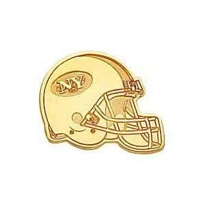 14K Gold NFL New York Jets Football Helmet Tie Tac Sports