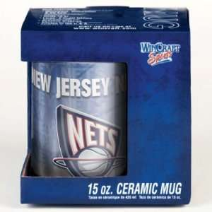 NEW JERSEY NETS 15OZ CERAMIC COFFEE MUG Sports & Outdoors