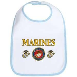 Bib Sky Blue Marines United States Marine Corps Seal