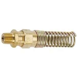 Male NPT Fitting With Spring, 1/4 Pipe Size, 3/8 Hose ID