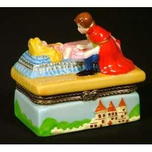 Sleeping Beauty Fairy Tale Hinged Trinket Box phb