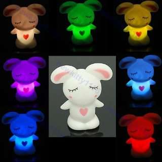 or 1 Pair of 7 Color Changing LED Lamp Night Light