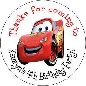 The Cars Car Personalized favor stickers personalized Birthday favors