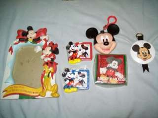 Vintage Mickey Mouse Collection Bottle Frame Clip Squeak Toy Metal Box