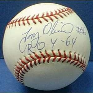 MLB Twins Tony Oliva # 6 Autographed Baseball Sports
