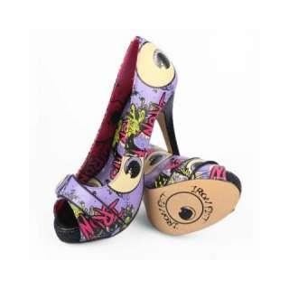 Iron Fist Oh No Womens Platforms High Heel Shoe Zombie Charcoal
