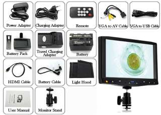 Inch On Camera HD DSLR LCD Field Monitor Video Camcorder(1080P, HDMI