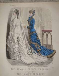 LADIES TREASURY, 1879, HAND COLOURED COSTUME/FASHION PLATES