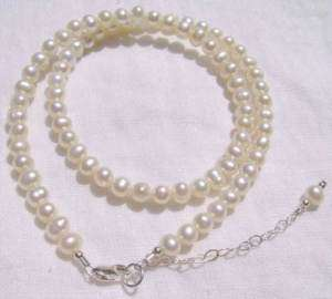 Baby/Child/Girl Necklace Real Pearl & Sterling Silver