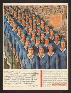 1960 American Airlines Stewardess College Vint Print Ad