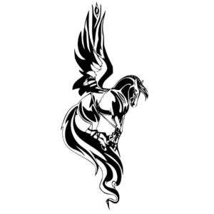 Pegasus Horse Vinyl Wall Decal Art   700