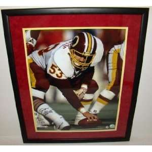 NEW Jeff Bostic SIGNED Suede Framed 16x20 REDSKINS Sports