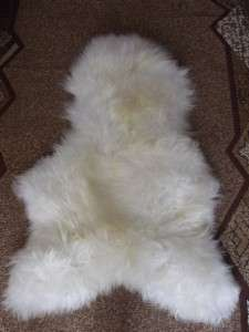 100% GENUINE NATURAL SHEEPSKIN RUG EXTRA SOFT HAIR  WASHABLE SHEEPSKIN