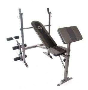 Standard Bench Press w/preacher leg ext. leg curl 702556340721