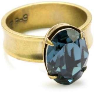 Liz Palacios Piedras Swarovski Montana Crystal Ring, Size 7