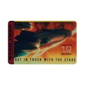 Collectible Phone Card Star Trek Generations   10u Enterprise In The
