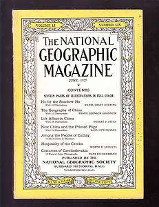 National Geographic June 1927 good China Czechoslovakia