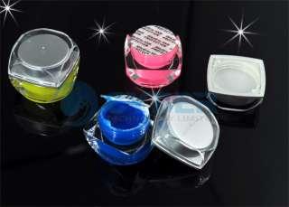12 Color UV Acrylic Nail Art Glitter Builder Gel Cream