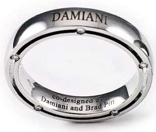 DAMIANI BY BRAD PITT 18 KT. GOLD & DIAMOND BAND RING
