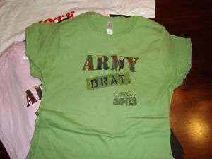 Ladies Girls Army Brat Ringspun Shirt
