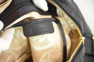 MICHAEL KORS LARGE PORTLAND BLACK LEATHER SATCHEL BAG $398