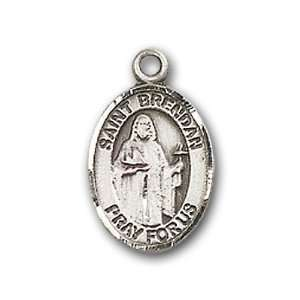 St. Brendan the Navigator Charm and Baby Boots Pin Brooch Jewelry
