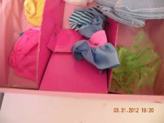 BARBIE DOLLS WITH CLOTHES, SHOES ACCESSORIES & PINK BARBIE CASE