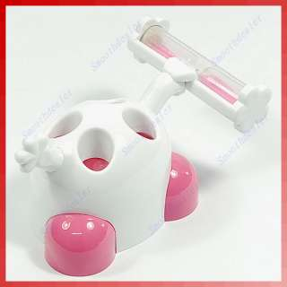 Cute Sandglass Home Family Toothbrush Holder Stand Pink