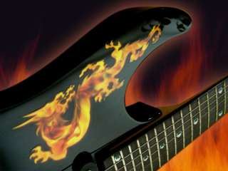 Real Fire Dragon Inlay Sticker Decal Guitar Bass