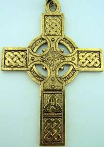 Clergy Bishops Pectoral Cross 30 Chain Celtic Irish Design Bronze 30